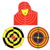 Set targets for practical pistol shooting Stock Photography