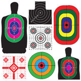 Set of targets Stock Photo