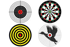 Set targets for shooting practice.  Royalty Free Stock Images