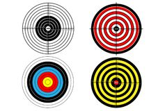 Set targets for shooting practice.  Stock Photos