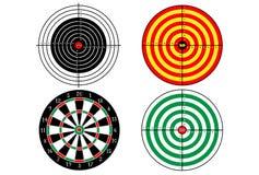 Set targets for shooting practice. Set targets for shooting practice, vector Stock Photos