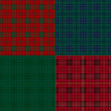 Set of tartan check backgrounds. Royalty Free Stock Photos