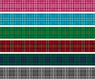 Set of tartan check lines. Set of red plaid and tartan check banners Stock Image