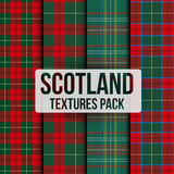 Set of tartan fabric texture pattern seamless Royalty Free Stock Image