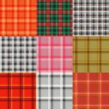 Set of tartan. Plaid varicoloured pattern  Stock Images