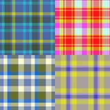 Set of tartan seamless generated textures Royalty Free Stock Photography