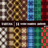 Set tartan seamless pattern in different colors. Royalty Free Stock Photo