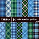 Set Tartan Seamless Pattern stock illustration