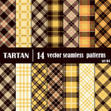 Set Tartan Seamless Pattern Stock Photos