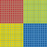 Set of tartan seamless patterns Stock Photos