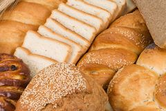 Set of tasty bread Royalty Free Stock Photo
