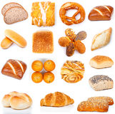 Set of tasty buns Royalty Free Stock Images