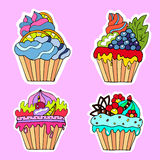 A set of tasty cakes for design. Set of tasty cakes for design Royalty Free Stock Photography