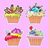A set of tasty cakes for design. Set of tasty cakes for design Royalty Free Stock Images