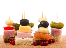 Set of tasty canape Royalty Free Stock Image