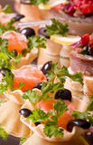 Set of tasty canape Stock Images