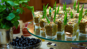 Set of tasty canape for an event party Royalty Free Stock Images