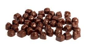 Set of tasty chocolates isolated on white background Royalty Free Stock Photography
