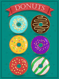 Set of tasty colorful donuts Royalty Free Stock Image