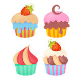 Set of tasty colorful muffins Stock Photography