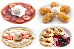 Set of tasty desserts Stock Photography