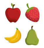 Set tasty fruits healthy food Stock Photography