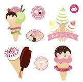 Set of tasty ice cream Royalty Free Stock Photo