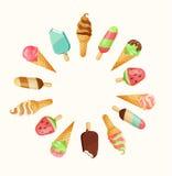 Set of tasty ice cream. Stock Photos