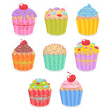 A set of tasty muffins and cupcakes Royalty Free Stock Photography