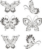 Set tattoo butterfly Royalty Free Stock Photography