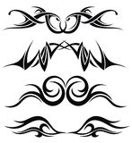 Set of tattoo design Royalty Free Stock Images
