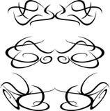 Set of tattoo design elements artworks stock illustration