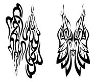 Set of tattoo design elements. Vector Stock Images