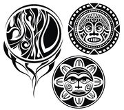 Set of tattoo elements.Masks Royalty Free Stock Image