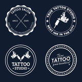 Set tattoo logos of different styles Royalty Free Stock Image