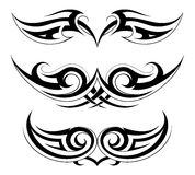 Set of tattoo shapes on symmetry basis Stock Images