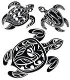 Set of tattoo turtles Royalty Free Stock Images
