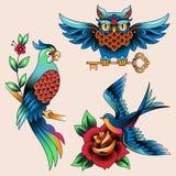 Set of tattoos Stock Image