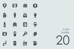 Set of tavern icons. Tavern vector set of modern simple icons Stock Image