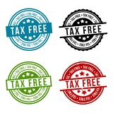 Set of Tax Free Badges - Eps 10 Vector stock illustration