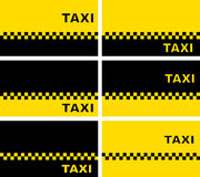 Set of taxi business cards Royalty Free Stock Photography