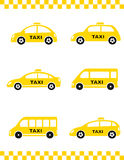Set of taxi car Royalty Free Stock Photography