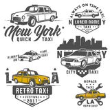 Set of taxi car for emblems,logo and design. Stock Photo