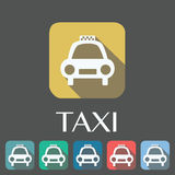 Set of 6 taxi icons Royalty Free Stock Photos