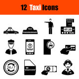Set of Taxi icons Stock Photography