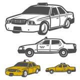 Set taxi samochód dla emblematów, loga i projekta, Obraz Royalty Free