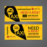 Set of taxi service business banner, poster, flyer. Taxi pickup service layout templates. vector illustration