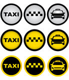 Set of taxi signs Stock Photo