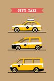 Set taxis machines Royalty Free Stock Images
