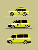Set taxis machines Royalty Free Stock Photo